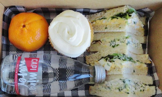 Sandwich and cupcake Lunch box