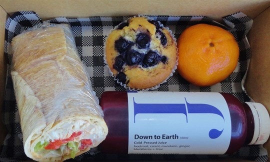 Wrap and muffin Lunch box