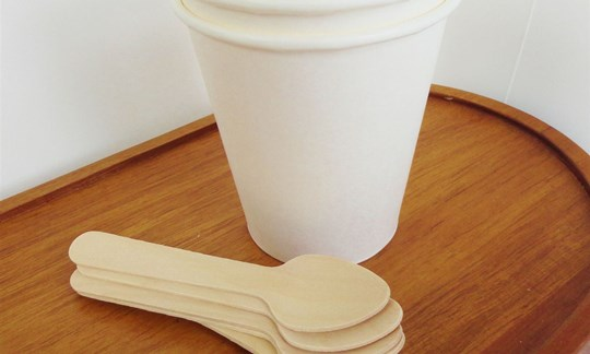 Coffee cups and spoons - compostable