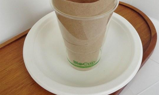 Plates, napkins and bio-cups - compostable