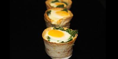 Breakfast Tortilla - Spinach & Egg