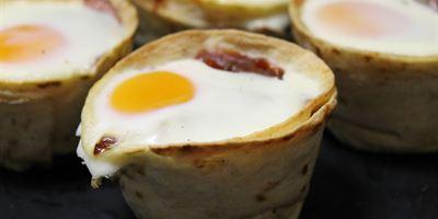 Breakfast Tortilla - Bacon & Egg