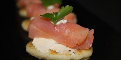 Smoked Salmon, Dill & Cream Cheese Blinis