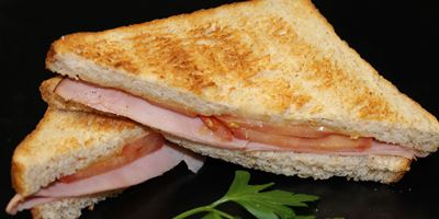 Swiss Bread Toasties - Ham, Cheese & Tomato