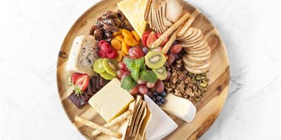 Gourmet Cheese Platter served with Water & Rice Crackers