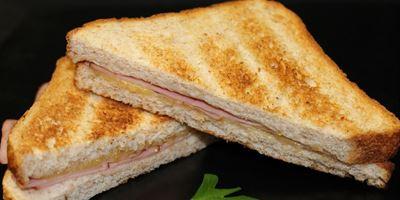 Swiss Bread Toasties - Ham & Cheese