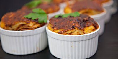 Mini Lasagne- Choice Of Meat Or Vegetarian