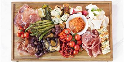Antipasto Platter served with freshly cut Bread