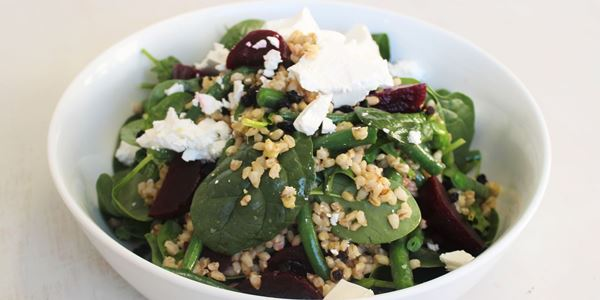 Pearl Barley, asparagus and Beetroot Salad