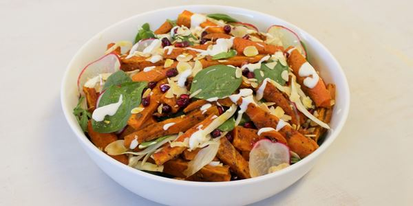 Harissa Roasted Carrot Salad