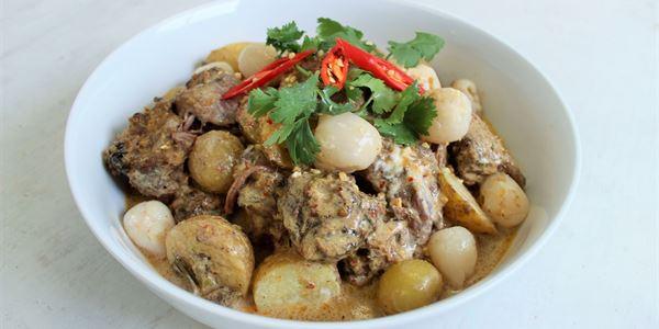 Beef Massaman & Lychee Curry
