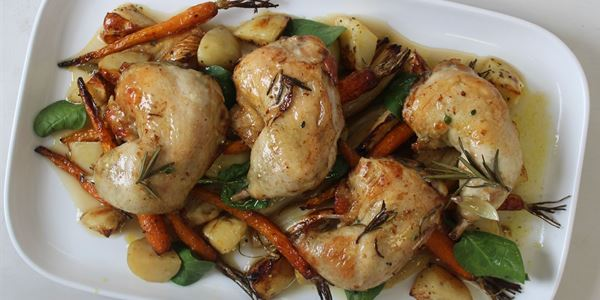 Lemon Thyme Confit Chicken