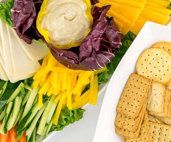 Crudités And Cheese Platter