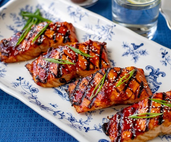 Sweet and Spicy Salmon Dinner for Four