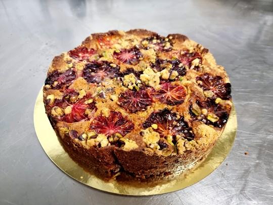 Blood orange pistachio cake