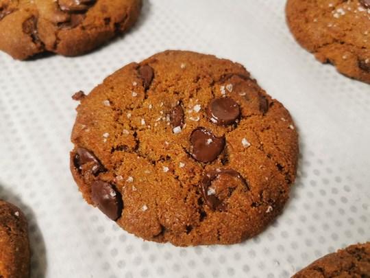 Choc chip rye cookies