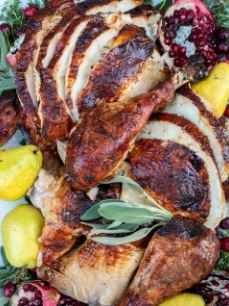 Roasted Turkey with cranberry & rosemary stuffing (8-12 guests)