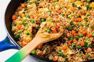 Vegetarian Fried Rice (serves 4-8)