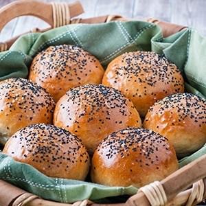 Garlic Bread Brioche BIG Buns - EACH