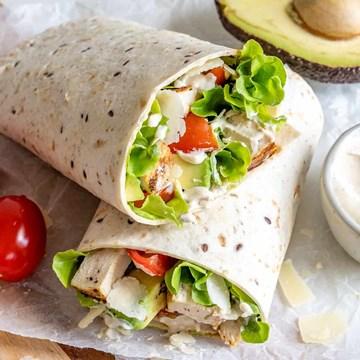 Gourmet Lunch Wraps - 10 Serves / Half Wraps