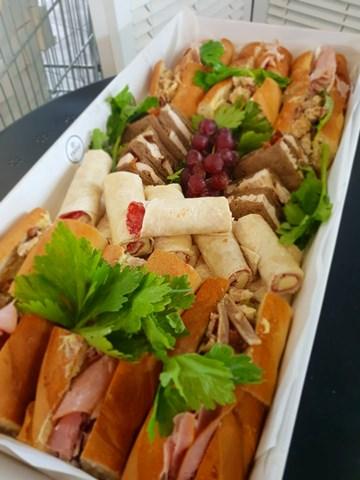 THE MEGA PLATTER - 10 Baguettes + 20 Point Sandwiches + 20 Mini Wraps