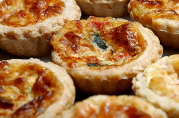 Traditional Mini Quiches  - 12 Pieces - Served Hot