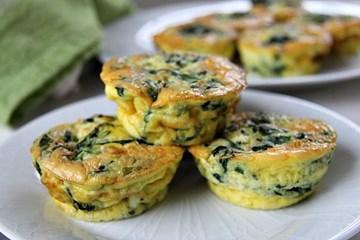 Spinach & Fetta Mini Quiche *GLUTEN FREE* - 24 Pieces COLD