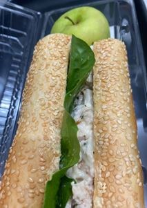 Chicken & Mayo Baguette with Fruit