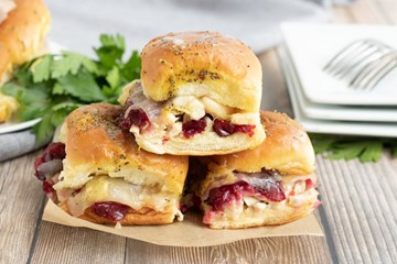 Turkey, Brie & Cranberry Sliders (Served Cold)