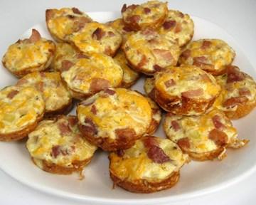 Leg Ham, Cheese & Onion Mini Pies *GLUTEN FREE* - 24 Pieces - COLD