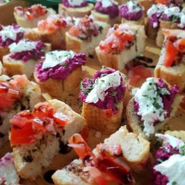 Beetroot & Fetta Bruschetta - 10 pieces Hearty Canape Size