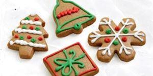 Ginger Christmas shapes