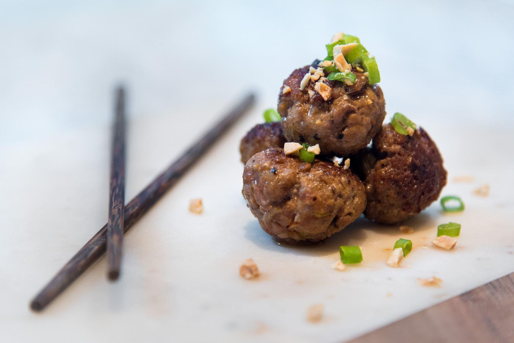 Pork & Peanut Meatballs