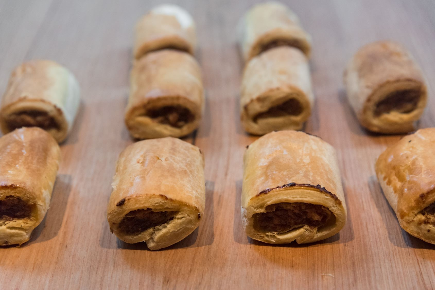 Mini Beef & Onion Sausage Rolls
