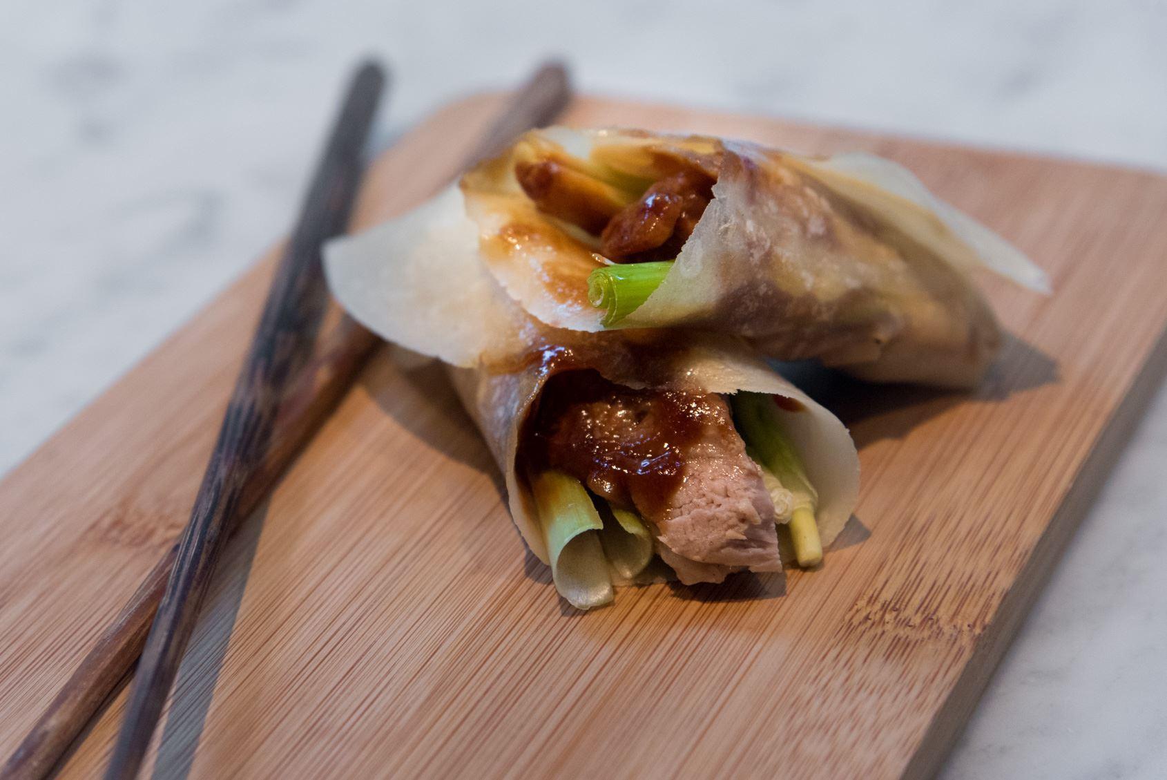Peking Duck Pancakes w/ Hoi Sin Sauce