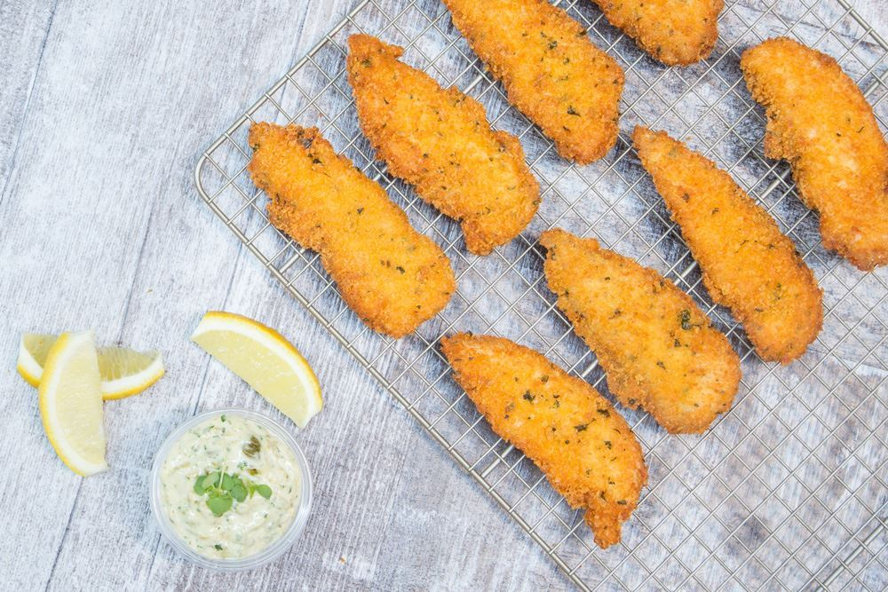 Housemade chicken schnitzel bites