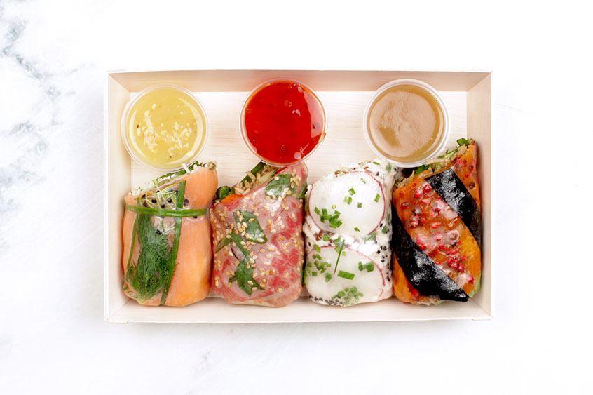 Individual Salad Roll Box
