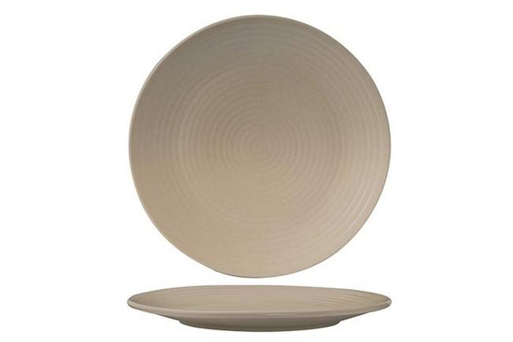 Plate Coupe Ribbed 265mm Beige