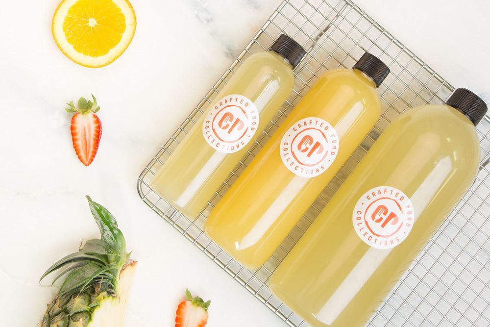 Cold Pressed Wake-up Call Juice: Green apple, ginger & lemon