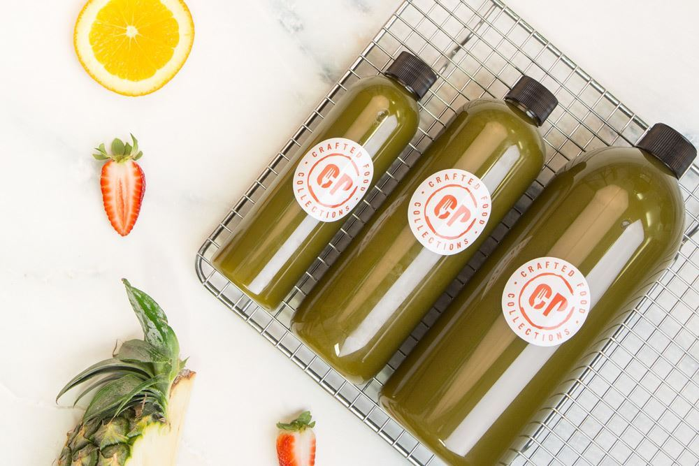 Cold Pressed Green Power Juice: Apple, celery, pear, spinach, lemon & ginger