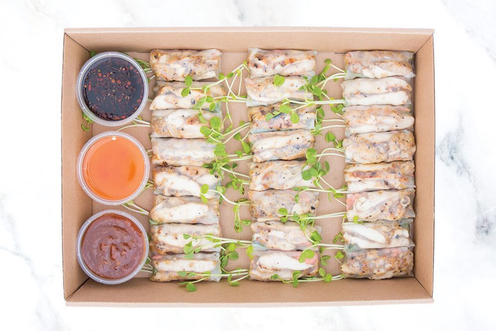 BBQ Chicken Ricepaper Roll Collection  - Large