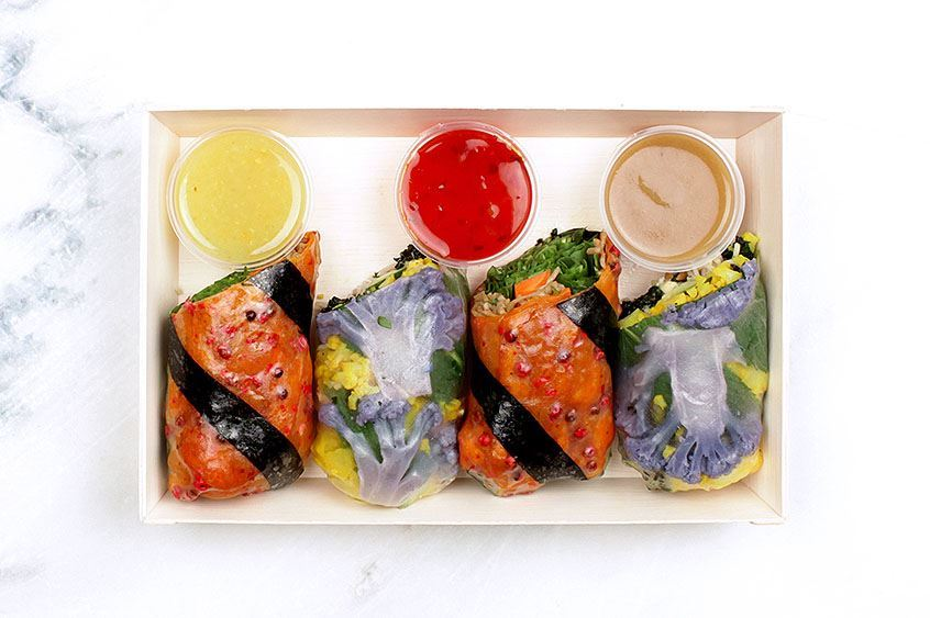 Individual Vegan Salad Roll Box