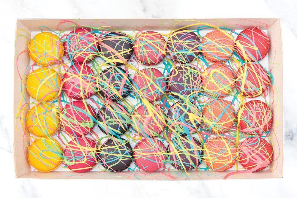 Vivid Splashed Macaron Collection